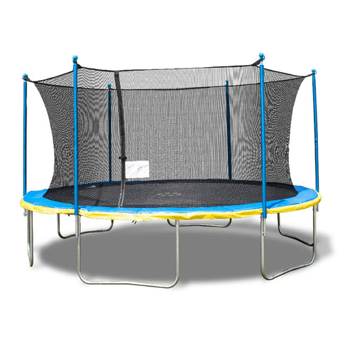 Trujump 15' Round Backyard Trampoline with Safety Enclosure