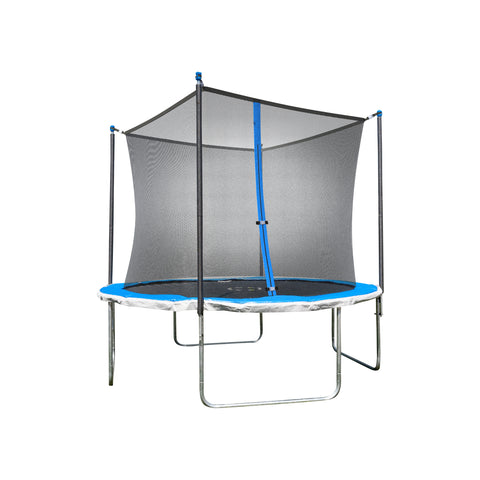 TruJump 10 Foot Blue Trampoline with Enclosure