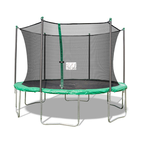 TruJump 12 Foot Green Trampoline with Enclosure
