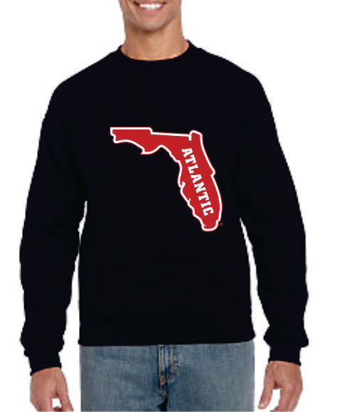Crew Neck Sweatshirt with printed FAU (Logo 6)