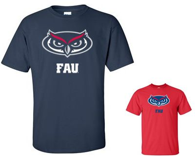Florida Atlantic University (FAU) T-Shirt Logo 4 & 7