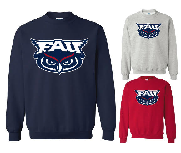 Crew Neck Sweatshirt with printed FAU (Logo 1)