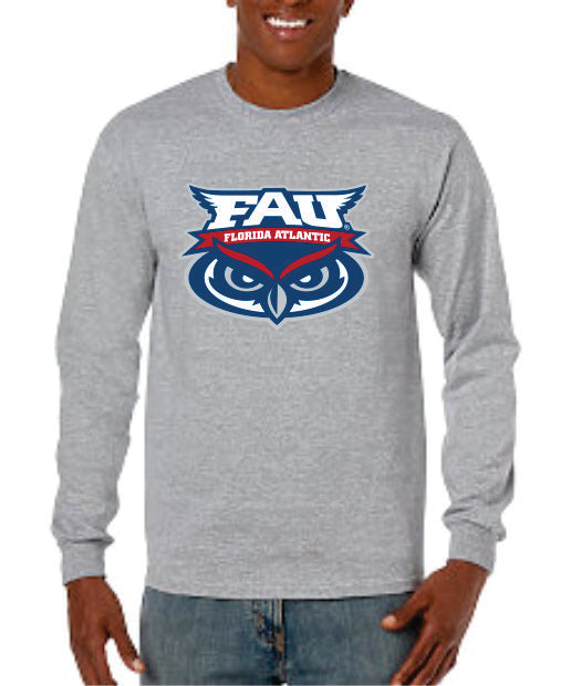 Long Sleeve T-Shirt Banner Owl Performance FAU (Logo 2)