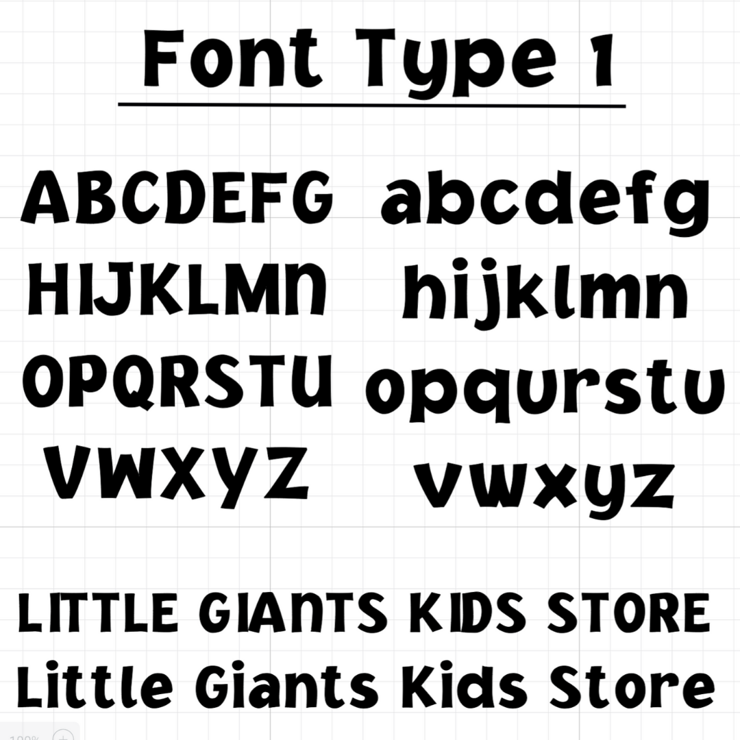 Little Giants Custom Decal - Single - 8cm, 10cm, 12cm