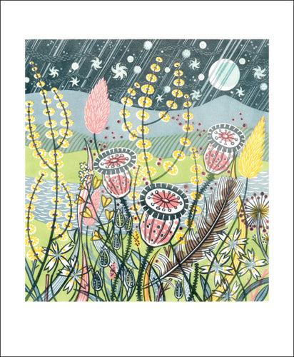 Greetings Card - Season Songs : Angie Lewin