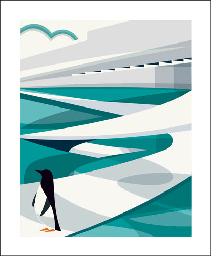 Greetings Card - The Penguin Pool : Andrew Pavitt