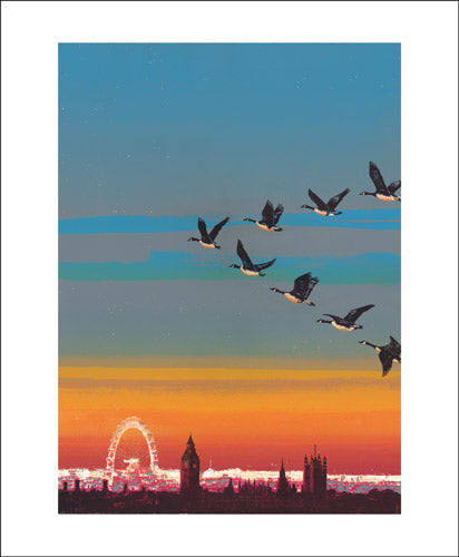 Greetings Card - Migration over Westminster : Emma Reynolds