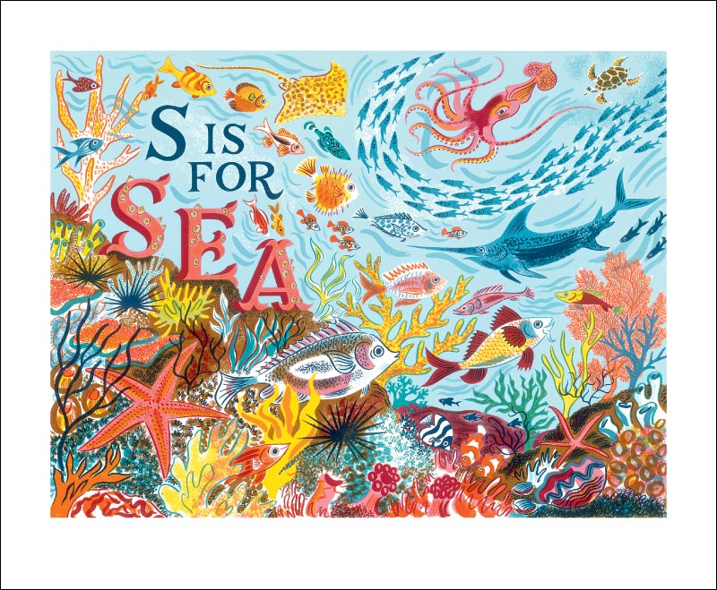 Greetings Card - S is for Sea : Emily Sutton