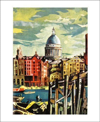 Greetings Card - St Paul's from the River : John Minton