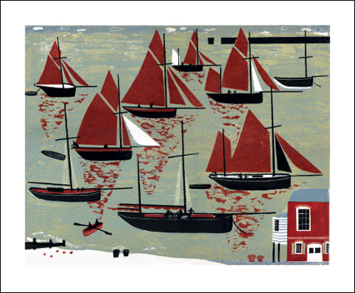 Greetings Card - The Whitstable Oyster Fleet : Melvyn Evans