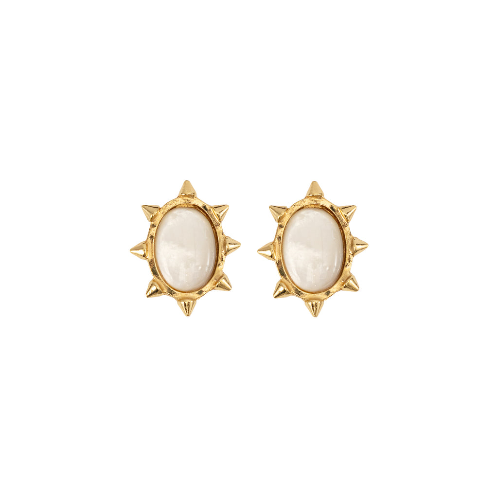 Mother of Pearl Clip Earrings
