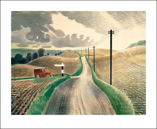 Greetings Card - Wiltshire Landsape : Eric Ravilious
