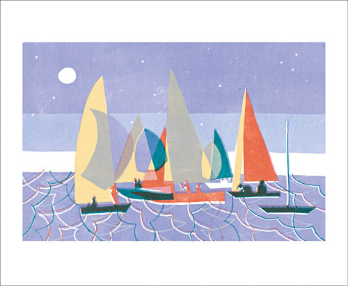 Greetings Card - Sailing at Dusk : Lisa Takahashi