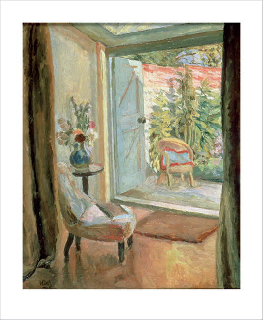 Greetings Card - View into the Garden : Vanessa Bell