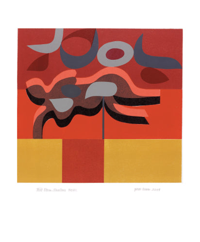 Greetings Card - Red Form Shadows No 2 : Peter Green