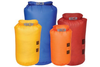 Exped - Fold Dry Bag 4 pack - Mixed Colours - Windermere Canoe Kayak