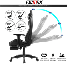 Load image into Gallery viewer, XJZ-06 - Ficmax Ergonomic Massage Gaming Chair