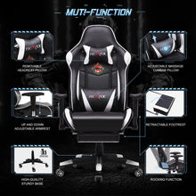 Load image into Gallery viewer, FX-08 - Ficmax Ergonomic Massage Gaming Chair