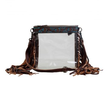 Myra Clear Bag with Fringe!!!