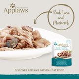 Applaws Tuna whole meat with Mackerel in Soft Jelly Adult Wet Cat Food