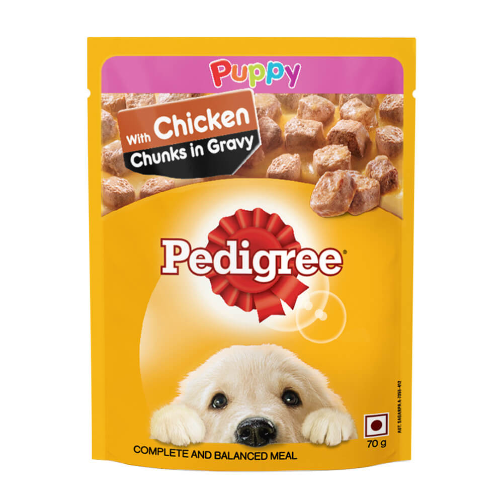 Pedigree Gravy Chicken Chunks Wet Puppy Food