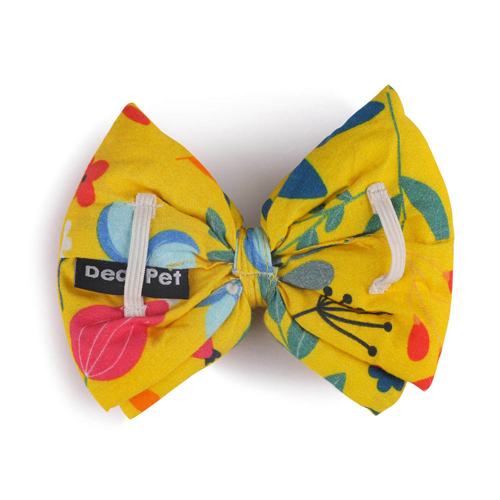 Dear Pet Blooming Yellow Dog Bow (Detachable)