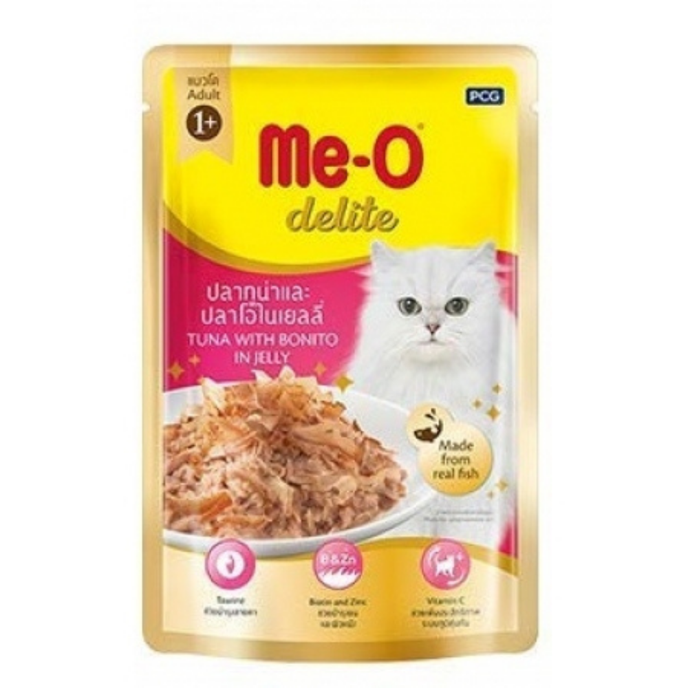 Me-O Delite Tuna With Bonito in Jelly Adult Wet Cat Food