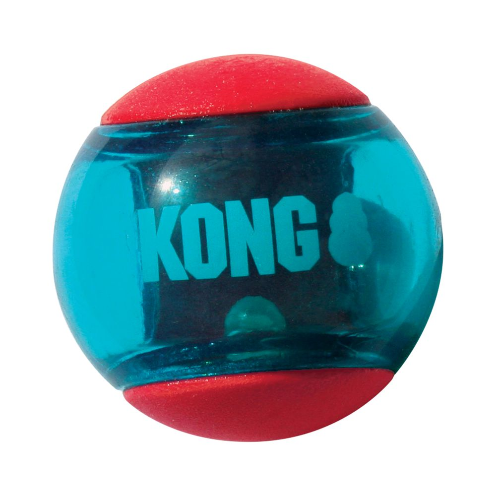 Kong Squeezz Action Ball Red Dog Toy- Pack of 3
