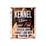 Kennel Kitchen Chicken Liver Gourmet Loaf with Pumpkin Puppy and Adult Wet Dog Food