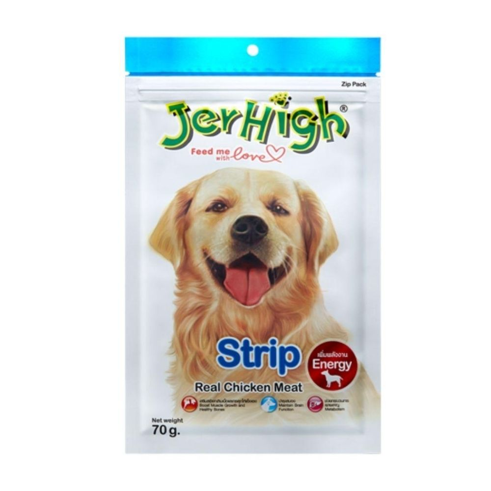 Jerhigh Strip with Real Chicken Meat Dog Treat