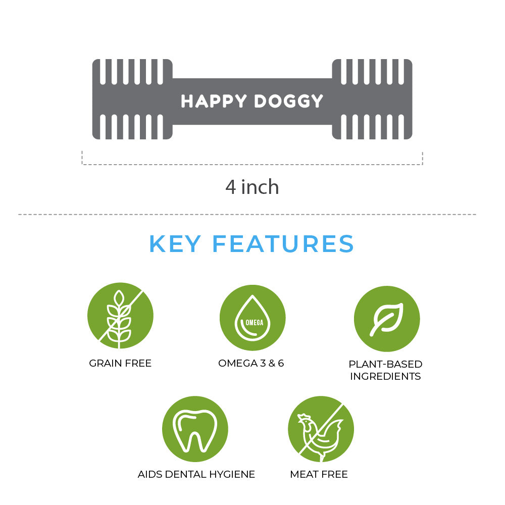 Happi Doggy Dog Dental Chew - Zest - Mint - Single