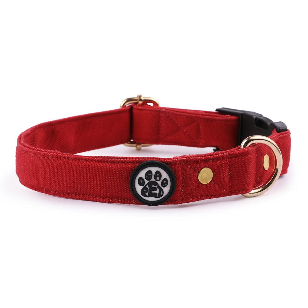 Dear Pet Classic Maroon Dog Collar