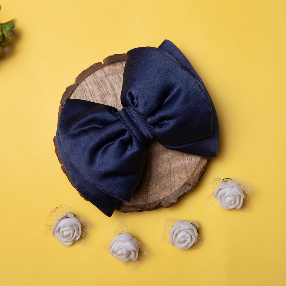 Dear Pet Navy Blue Dog Bow (Detachable)