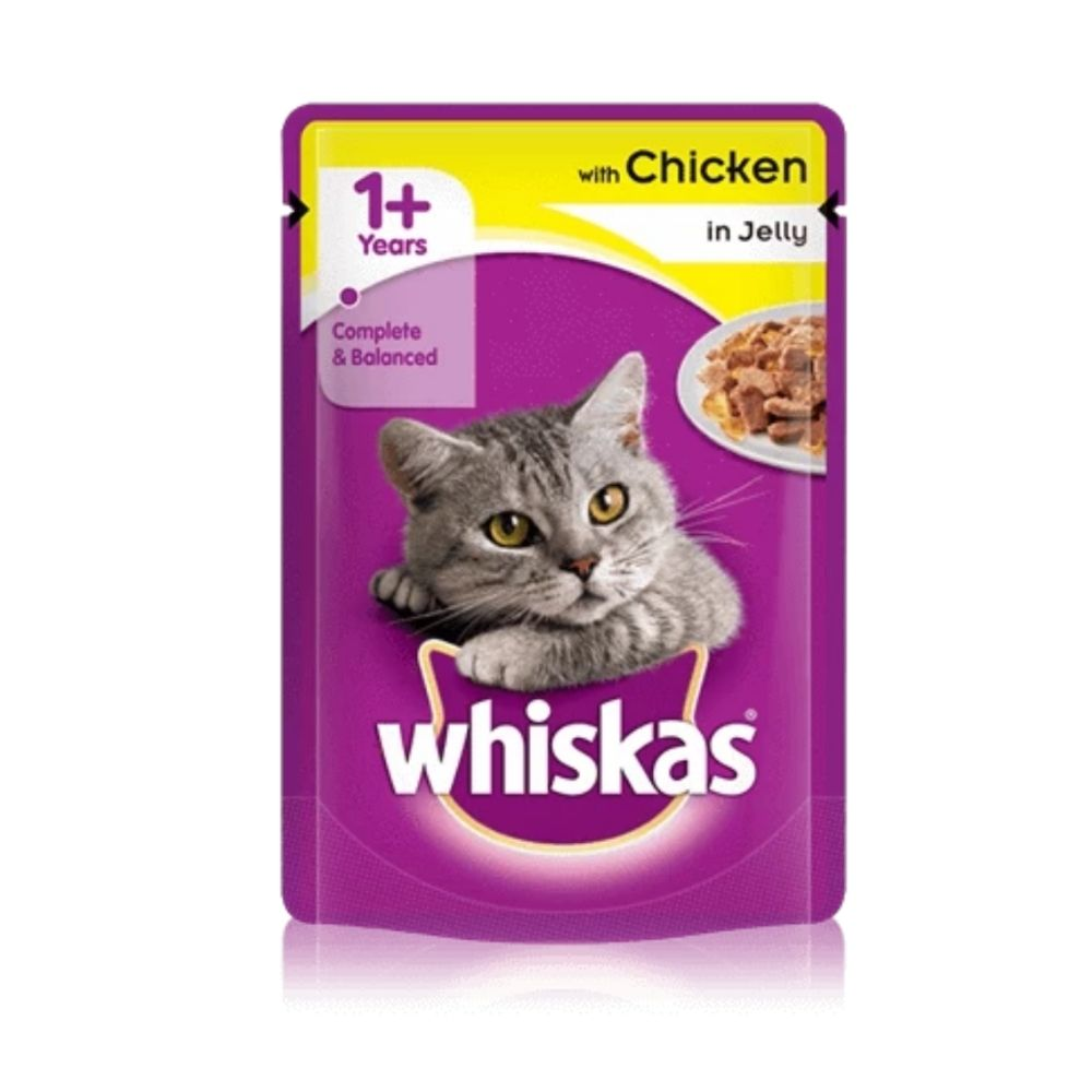 Whiskas Chicken In Jelly Adult Wet Cat Food - 85g
