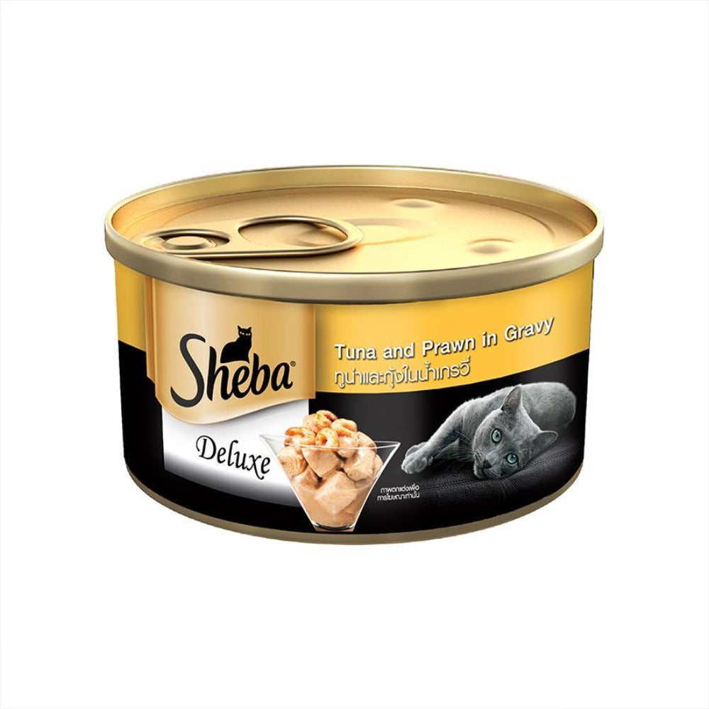 Sheba Tuna Fillets and Prawns in Gravy Adult Wet Cat Food