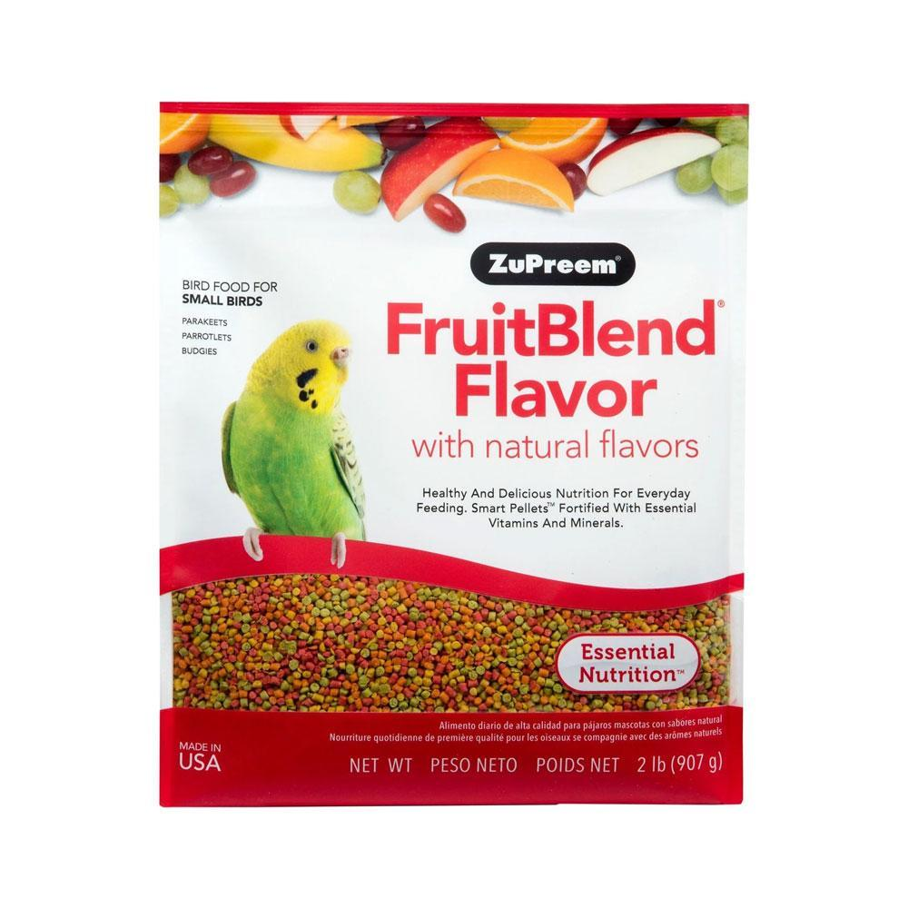 Zupreem FruitBlend Small Bird Food for Parakeets, Parrotlets and Budgies