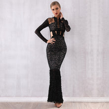 Spring New Celebrity Party Bandage Bodycon Maxi Dress