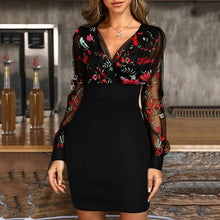 Dress Lace Patchwork Sexy Embroidered Floral