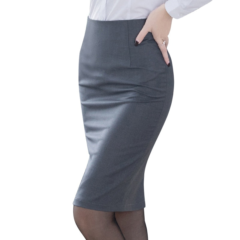 Elegant Women's Pencil Skirt Work Office Bodycon
