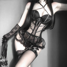 Lingerie Tops Brocade Thigh-Highs Garter Belt Sexy Cosplay Bustier Gothic Style