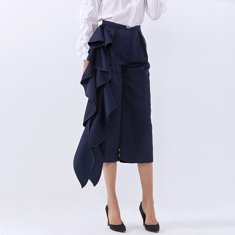 Loose Trousers For Women High Waist Casual Wide Leg New Stylish