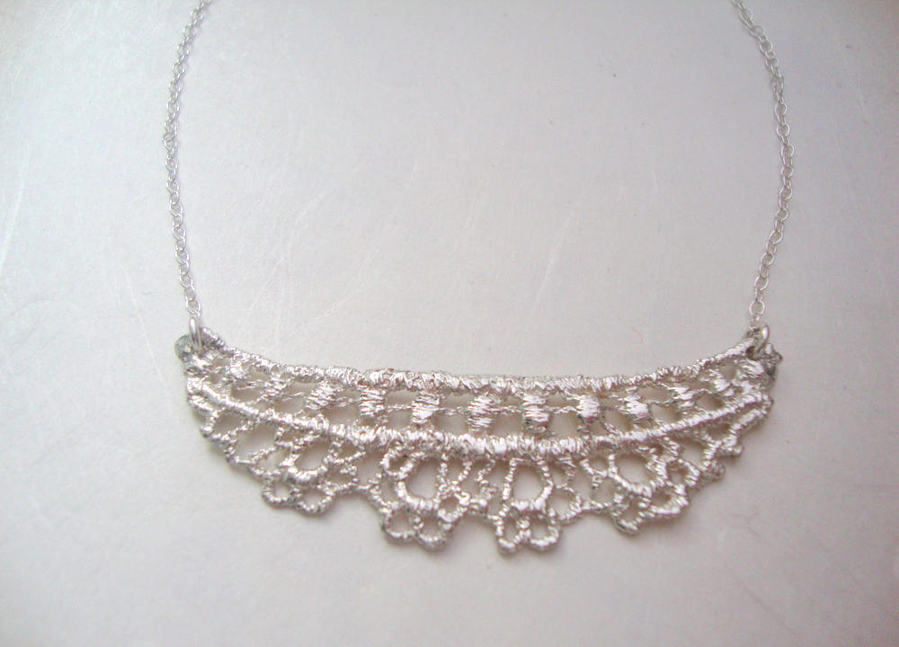 Ida Lace necklace in sterling silver