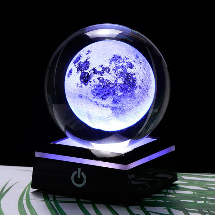 3D Crystal Ball LED Base - Space and Fantasy