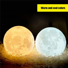 Load image into Gallery viewer, Rechargeable LED 3D Moon Lamp - Space and Fantasy