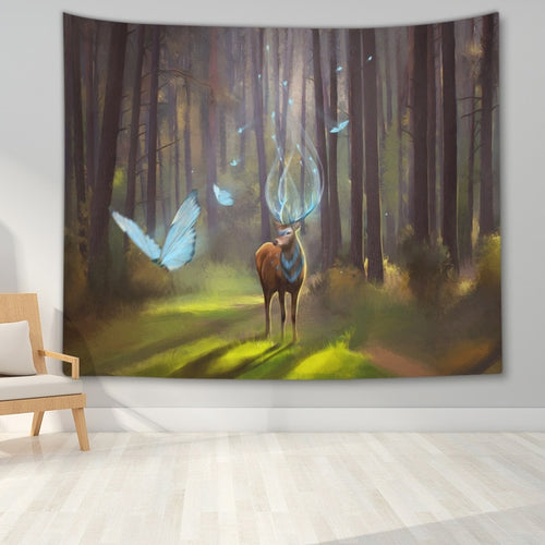 Deer in the Magic Forest - Space and Fantasy