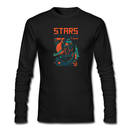 Star Traveler Men's Long Sleeve T-Shirt - Space and Fantasy