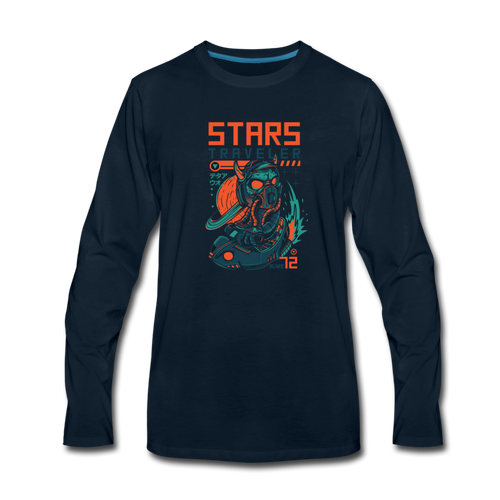 Star Traveler Men's Premium Long Sleeve T-Shirt - Space and Fantasy
