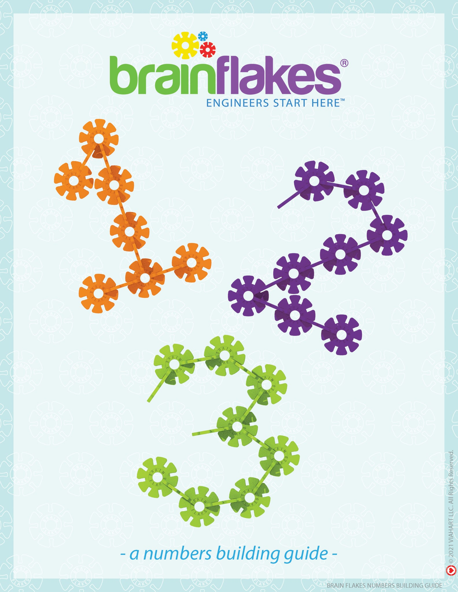 Brain Flakes numbers bilingual building task cards guide 1