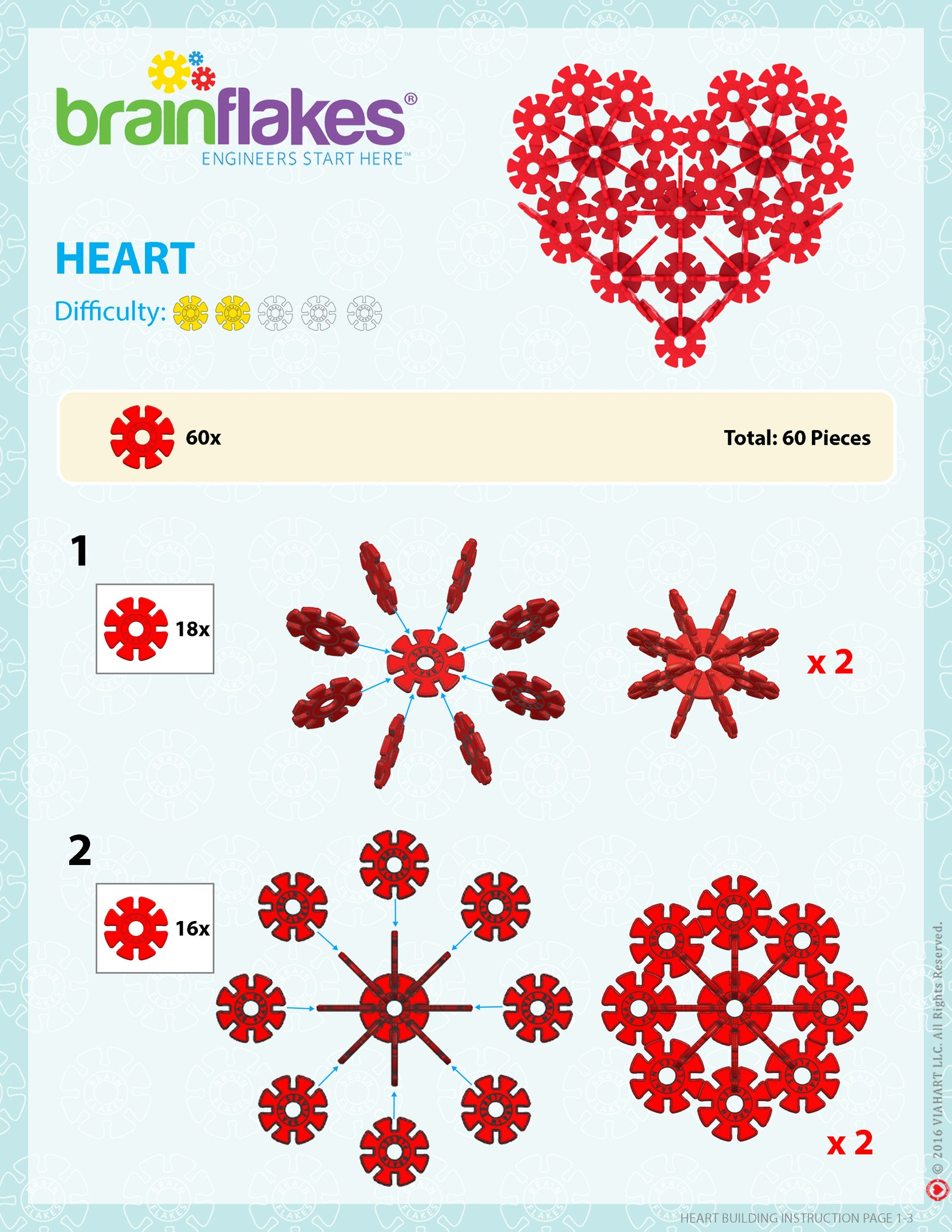 Brain Flakes Heart building instructions 1