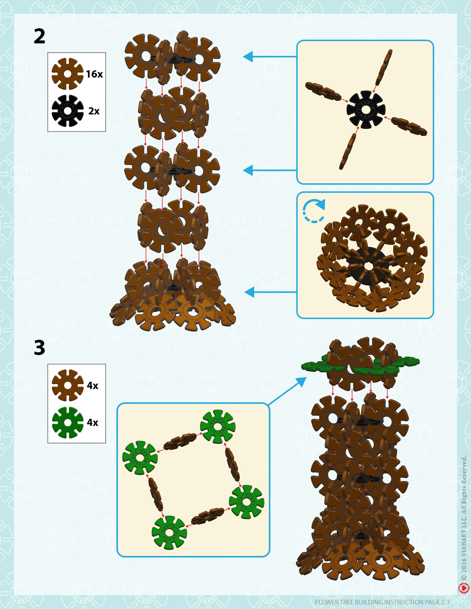 Brain Flakes Tree building instructions 2